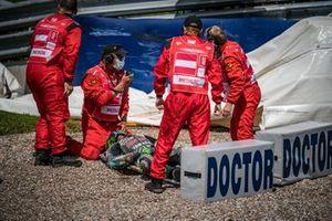 Франко Морбиделли, Petronas Yamaha SRT crash
