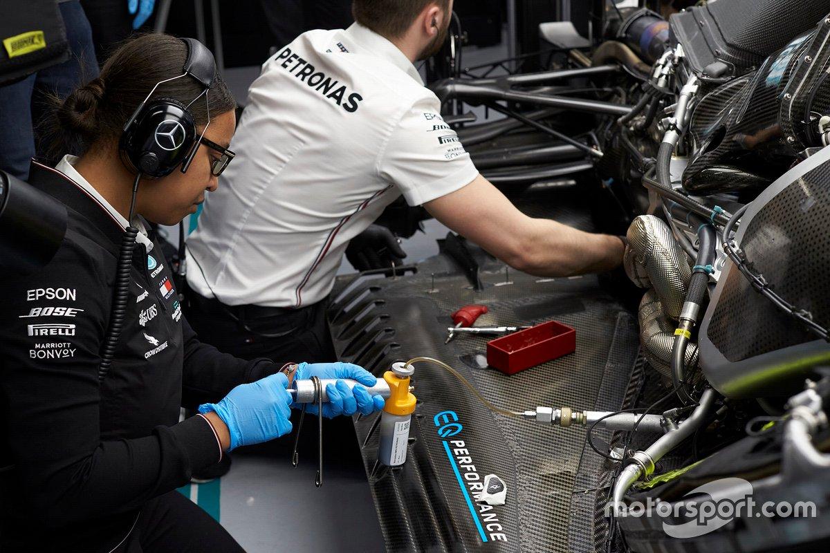 Stephanie Travers, Petronas trackside fluid engineer Mercedes AMG F1