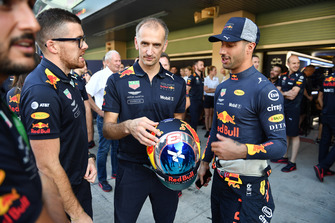 Daniel Ricciardo, Red Bull Racing and helmet