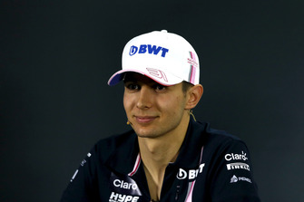 Esteban Ocon, Racing Point Force India in the press conference