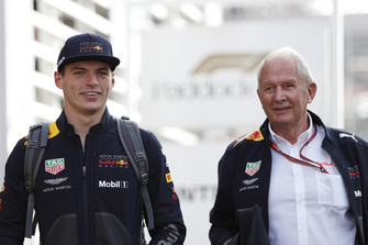 Max Verstappen, Red Bull Racing and Dr Helmut Marko, Red Bull Motorsport Consultant