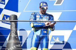 Podium: second place Andrea Iannone, Team Suzuki MotoGP
