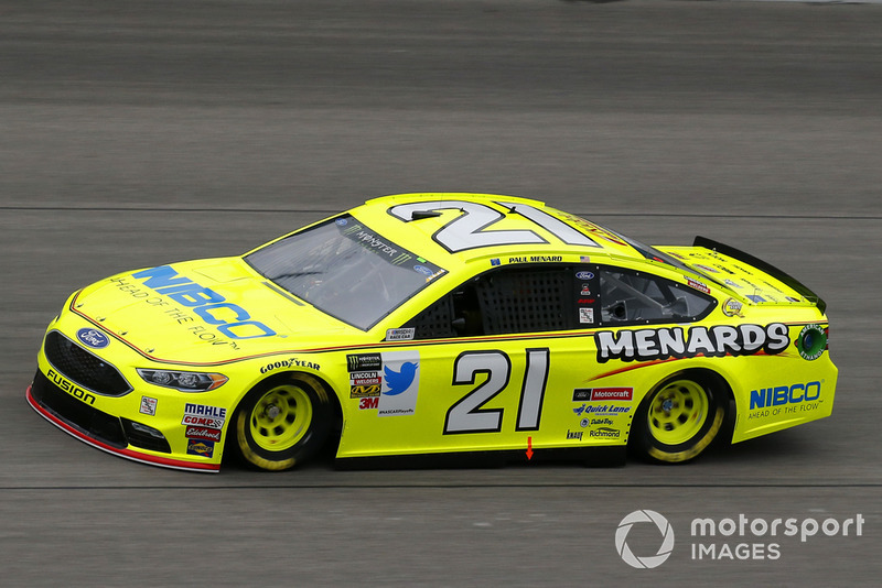 18. Paul Menard, Wood Brothers Racing, Ford Fusion Menards / NIBCO
