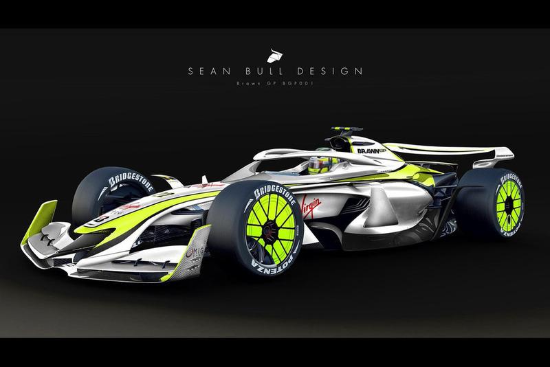 Раскраска Brawn GP для концепта №3