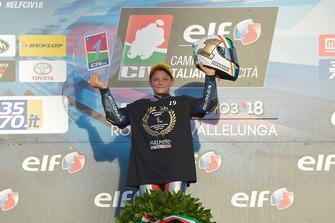 Il Campione 2018 della classe 250 Alessandro Morosi, Full Moto Squadra Corse