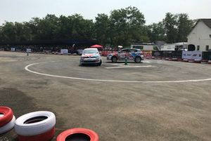 Asia Auto Gymkhana in action