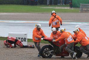 Aleix Espargaro, Aprilia Racing Team Gresini après sa chute