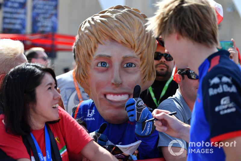 Brendon Hartley, Scuderia Toro Rosso and a caricature of himself