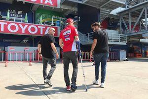 Jorge Lorenzo, Ducati Team, blessé après sa chute