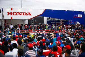 The Honda stand in the fan village
