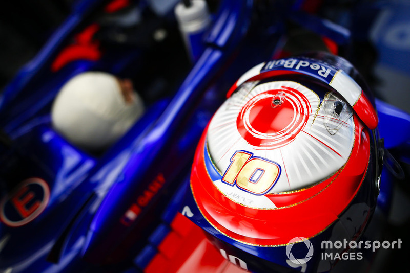 The helmet of Pierre Gasly, Scuderia Toro Rosso STR13