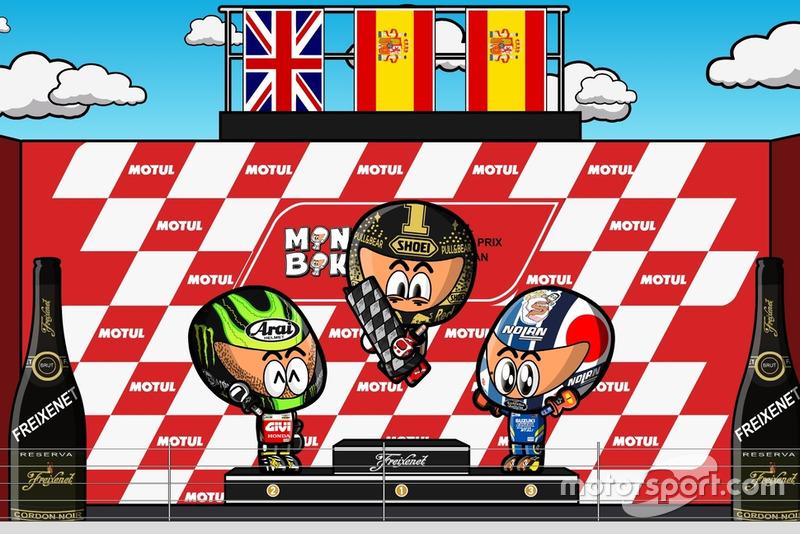 El podio del GP de Japón de MotoGP 2018, por MiniBikers