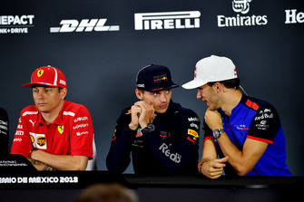 Kimi Raikkonen, Ferrari, Max Verstappen, Red Bull Racing and Pierre Gasly, Scuderia Toro Rosso in Press Conference