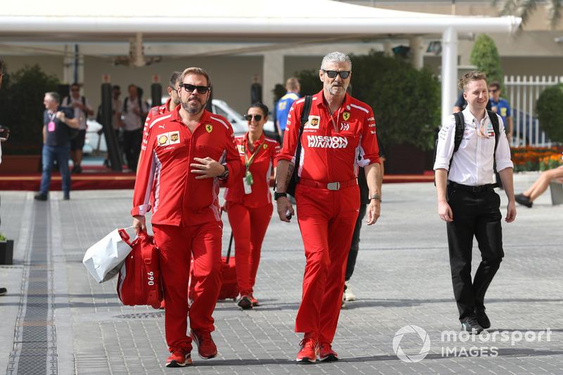 Gino Rosato, Ferrari y Maurizio Arrivabene, Ferrari Team