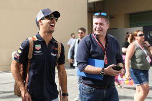 Daniel Ricciardo, Red Bull Racing and David Croft, Sky TV Commentator