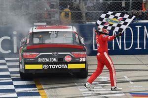 Christopher Bell, Joe Gibbs Racing, Toyota Camry Rheem celebrates his win