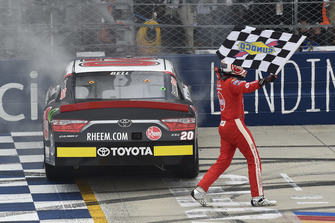 Christopher Bell, Joe Gibbs Racing, Toyota Camry Rheem celebrates his win