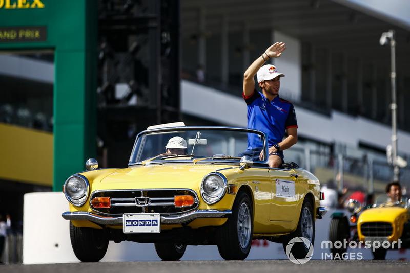 Pierre Gasly, Scuderia Toro Rosso, parade pembalap