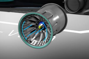 Animazione cerchi forati Mercedes F1 AMG W09