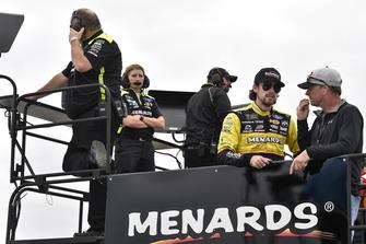 Ryan Blaney, Team Penske, Ford Fusion Menards/Richmond e Dave Blaney