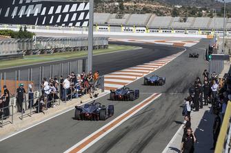 Stoffel Vandoorne, HWA Racelab, VFE-05, Robin Frijns, Envision Virgin Racing, Audi e-tron FE05 en Sam Bird, Envision Virgin Racing, Audi e-tron FE05