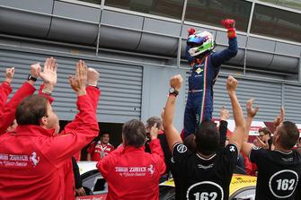 Il vincitore Christophe Hurni, Team Zenit Sion - Lausa
