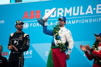 Winner Antonio Felix da Costa, BMW I Andretti Motorsports with second position Jean-Eric Vergne, DS TECHEETAH, third position Jérôme d'Ambrosio, Mahindra Racing