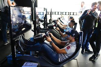 Felipe Massa, Venturi Formula E, on the eRace simulators