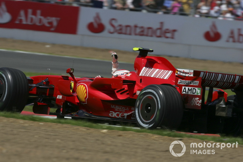 Ganador de la carrera Kimi Raikkonen, Ferrari F2007