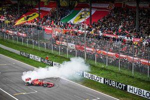 Andrea Bertolini, Ferrari F60, burn-out