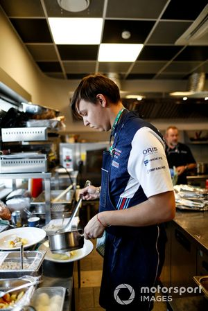 Maxim Letunovskiy, Williams guest Chef