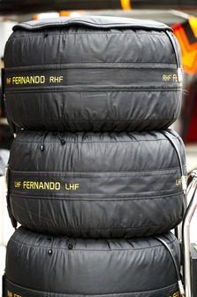 Tyres of Fernando Alonso, McLaren
