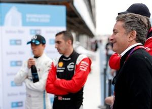 Sébastien Buemi, Nissan eDams, Nyck De Vries, Mercedes Benz EQ, mit Alejandro Agag