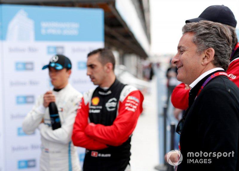 Alejandro Agag, PDG de la Formule E, Sébastien Buemi, Nissan eDams, Nissan IMO2, Nyck De Vries, Mercedes Benz EQ, EQ Silver Arrow 01