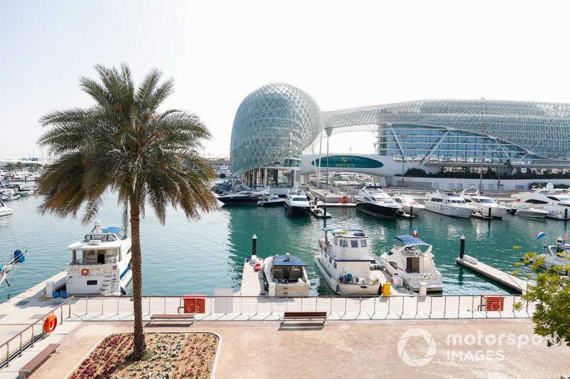 The Yas Marina harbour