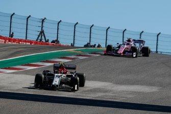 Antonio Giovinazzi, Alfa Romeo Racing C38,leads Lance Stroll, Racing Point RP19