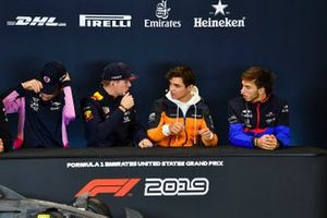 Press conference, Lance Stroll, Racing Point, Max Verstappen, Red Bull Racing, Lando Norris, McLaren and Pierre Gasly, Toro Rosso