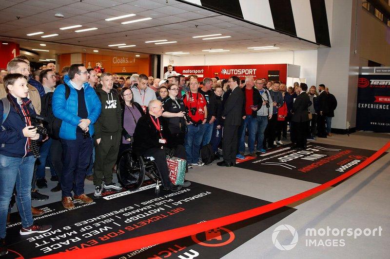 Fans await the opening of Autosport International 2020
