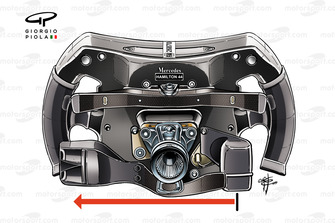 Mercedes AMG F1 W10, steering wheel Lewis Hamilton