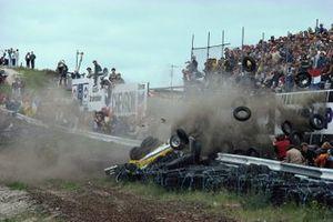 Crash: Rene Arnoux, Renault RE30B