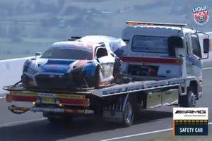 Wreckage of #22 Audi Sport Team Valvoline Audi R8 - LMS GT3: Garth Tander, Chris Mies, Mirko Bortolotti