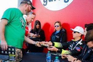 #14 AIM Vasser Sullivan Lexus RC-F GT3, GTD: Parker Chase, Jack Hawksworth, Michael De Quesada, Kyle Busch, autograph session