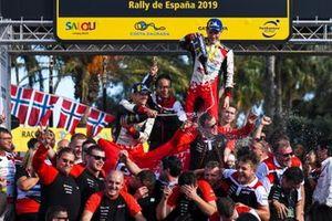 Wereldkampioen Ott Tänak, Martin Järveoja, Toyota Gazoo Racing WRT Toyota Yaris WRC