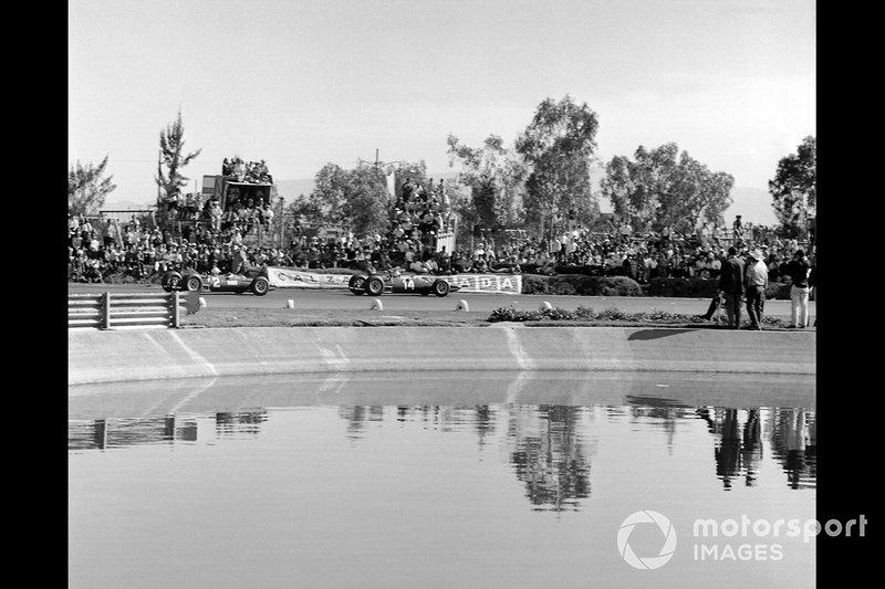 Pedro Rodriguez, Ferrari, Lorenzo Bandini, Ferrari, al GP del Messico del 1965