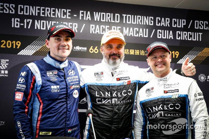Yvan Muller, Cyan Racing Lynk & Co 03 TCR, Norbert Michelisz, BRC Hyundai N Squadra Corse Hyundai i30 N TCR, Andy Priaulx, Cyan Performance Lynk & Co 03 TCR