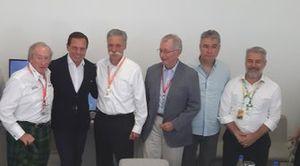 Jackie Stewart, João Doria, Chase Carey, Tamas Rohonyi