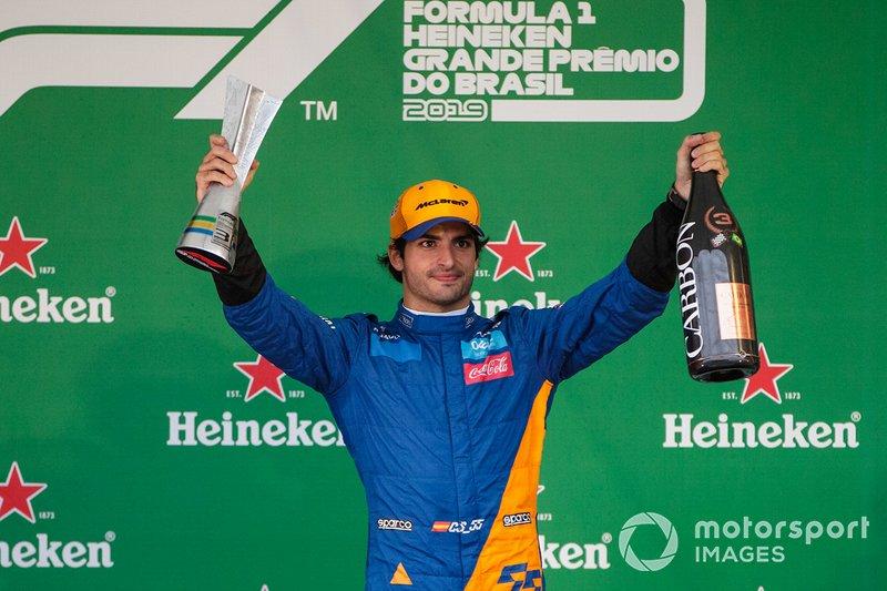 6º Carlos Sainz Jr: 96 pontos, 1 pódio (3º no Brasil)