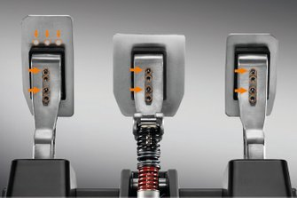 Thrustmaster LCM pedals detail