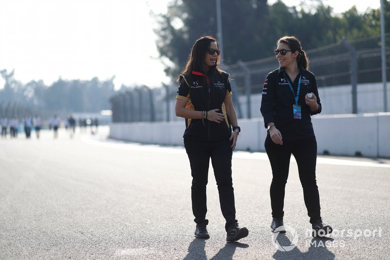 Members of the DS Techeetah team on the track walk