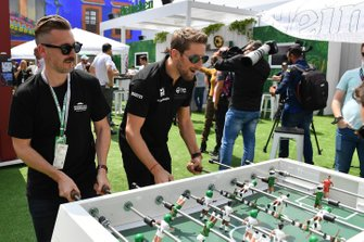 Romain Grosjean, Haas F1 plays table football